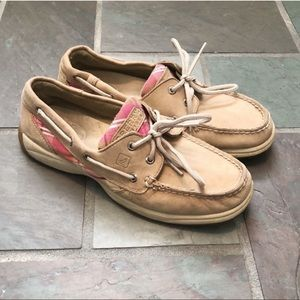 Sperry Top Siders nubuck leather boat shoes 7.5